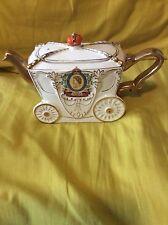 Rare Queen Elizabeth II 1953 Coronation Srate Coach Shaped Teapot