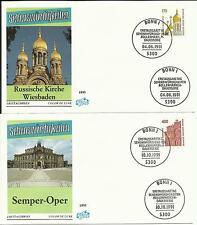 2 Ersttagsbriefe Sehenswürdigkeiten 1991 - Mi.-Nr.: 1535,1562