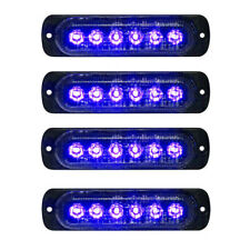 4x 6LED Car Truck Emergency Beacon Warning Hazard Flash Strobe Light Blue/Blue