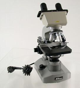 NIKON microscope Mikroskop Binokular binocular Licht lamp Premium top Science