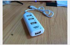 4 Port Compact & Slim USB Hub Multi Port Expansion Splitter Lead for Laptop PC