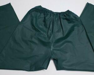 Mens Bass Pro Shop Green 100% Vinyl Rain Pants XL