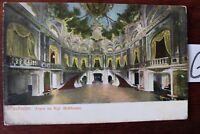 Postkarte Ansichtskarte Hessen Lithografie Wiesbaden Foyer im.Kgl Hoftheater