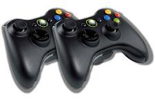 2x Original Microsoft Xbox 360 Wireless Controller Schwarz Gamepad Pad Joystick