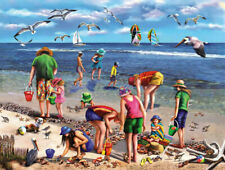 SHELL SEEKERS 550 PIECE JIGSAW PUZZLE by WHITE MOUNTAIN ~ NEW & SEALED
