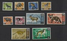 Kenya 1966-1969 Animals Glazed Paper Set SG #21a/33a MNH OG CV £50