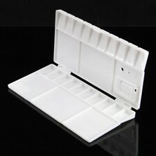 White Paint Tray Oil Art 25 Grids Plastic Watercolor Palette