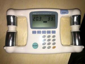 Omron Body Fat Analyzer HBF-300 Body Logic Pro Handheld Digital Display