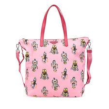 Prada Medium Robot Print Shopping Bag - Pink