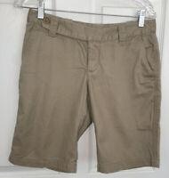 THE NORTH FACE Sz 4 Khaki Women's 100% Cotton Hiking Bermuda Shorts