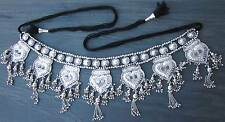 Tribal Fusion BellyDance Costume Hip Scarf Skirt Metal Tassel BELT Waist Jewelry