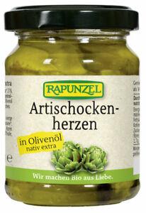 (4,16 EUR/100 g) Rapunzel Artischockenherzen in Olivenöl bio 120 g