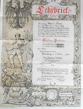 german pre war 1932  nuremberg  tailors lehrbrief certificate of training