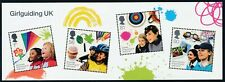 2010 GB GIRL GUIDING CENTENARY MINI SHEET MINT HINGED SG MS3025