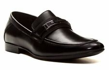 Calvin Klein Men's Oniel Bit Slip-On Leather Loafers Black Size 7 M