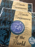 Music Treasures Of The World Vinyl Records. Two Vinyls
