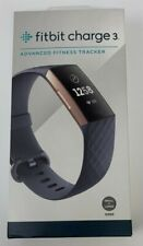 New Fitbit Charge 3 Advanced Activity Tracker Blue Gray/Rose Gold SHIPS FAST!
