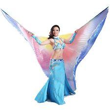 Belly Dance Bauchtanz Kostüm 360° Farbverlauf Bunte Isis Flügel bunte DE