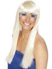 Blonde 1970's Disco Dancing Queen Wig Adult Womens Smiffys Fancy Dress Costume