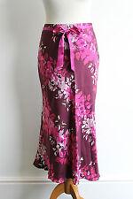 CC 100% Silk Oriental Floral Print Swishy Skirt BNWT Country Casuals Size 8 £100