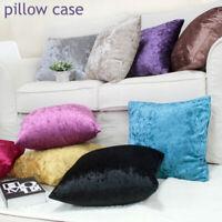 45x45cm Ice Velvet Cushion Cover Throw Pillow Case Sofa Car Home Decor Zip Up