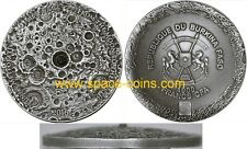 2016 Burkina Faso, NWA 10546 MOON meteorite, NANO chip, dome, 1oz, 1000 Francs