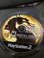 Mortal Kombat: Deception (Sony PlayStation 2, 2004) DISC ONLY