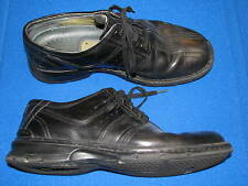 9.5 M Clarks Black Leather Mens Shoes Oxford Laces Ties Loafers 70851 Touareg D