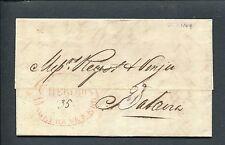 Ned.Indie 1849, ovaal CHERIBON ONGEFRANKEERD rood, brief naar Batavia