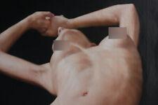 "Unique/Original oil painting girl torso front female nude painted 24""x36"""