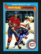 Steve Shutt Autographed Signed 1979-80 Topps Card #90 Montreal Canadiens 154310