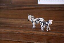 Schleich Wild Life Zebra, Female Educational Figurine, with baby zebra foal