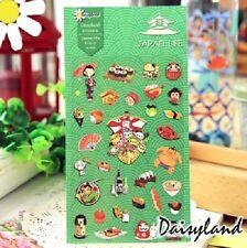 1 x sheet japan sushi food sports wine paper sticker