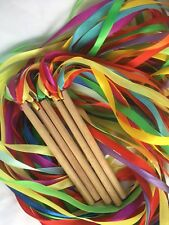 Dancing Gift 8 Ribbon Rainbow Hand Kite Wind 4 Colors Streamer Party Favor Gym