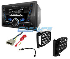 NEW POWER ACOUSTIK BLUETOOTH RADIO DOUBLE DIN STEREO RECEIVER INSTALL KIT NO CD