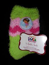 Nickelodeon Dora The Explorer Fuzzy Anklet Socks Shoe Size: 7 1/2-3 1/2 New w/tg