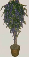 Artificial 6' Wisteria Tree Plant Topiary Palm Flower Floral Basket Arrangement