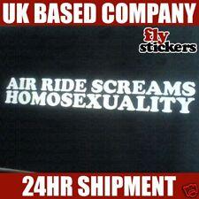 Air Ride Screams l'omosessualità Adesivo (G60 WRX STI)