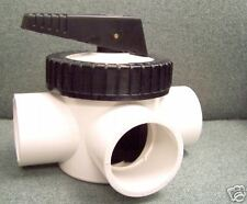 "TVI's Sched 80 Self-Lubricating 3 Way 2"" Pool and Spa Valve -socket"