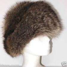 Cappello Pelliccia VOLPE Donna marrone vintage colbacco collo ENTRA VEDI  E0790 130371c4d8ee