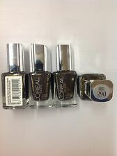 4 X L'OREAL LIMITED EDITION PROJECT RUNWAY NAIL POLISH OWL'S NIGHT #290 NEW.