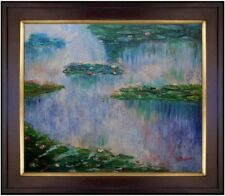 Framed Hand Painted Oil Painting Repro Claude Monet Water Lilies IV 20x24in