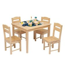 Wooden Table And Chair Set Pine for Children's (One Table With Four Chairs)