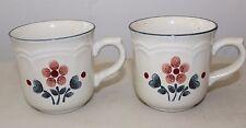 Cumberland Stoneware Brambleberry Coffee Cups Set of 2 L#1118