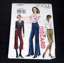 Vogue 7805 Skirt Pants Sz 18 20 22 Uncut Sewing Pattern Cropped Straight