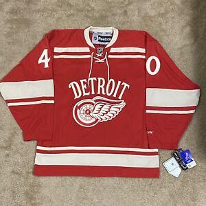 Reebok Henrik Zetterberg Detroit Red Wings 2014 Winter Classic NHL Jersey Red M