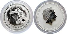 Australien 2012 Lunar II Drache 1/2 oz unze Silber 999 Year of the Dragon Silver