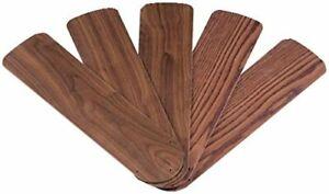 42Inch Outdoor Replacement Fan Blades Ceiling Fan Weatherproof Oak Walnut 5 Pack