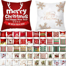 Christmas Xmas Square Cushion Cover Pillow Case Throw Party Sofa Bed House Decor
