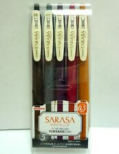 Zebra Gel Ball Pen SARASA Clip 0.5mm / Vintage 5 Color Set / JJ15-5C-VI2
